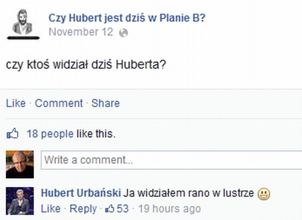 Czy Hubert jest dziś w Planie B?