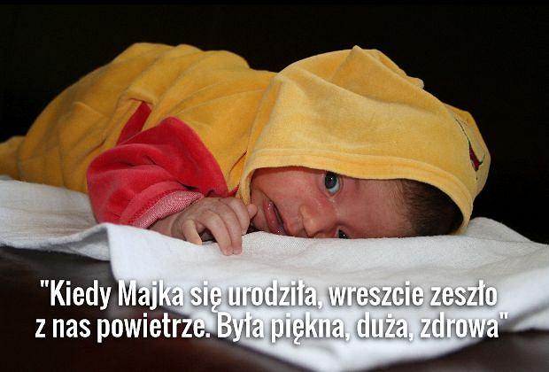 Maja, córeczka Moniki