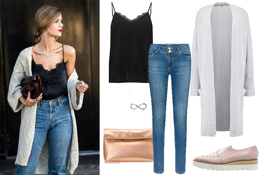 Koronki i jeans