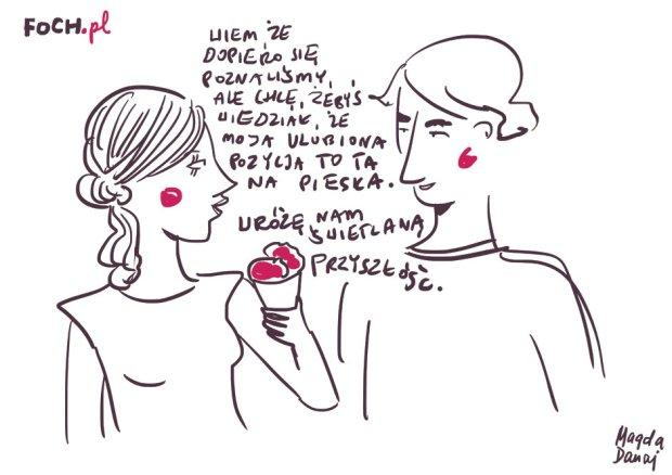 Przeciwieństwa może się i przyciągają, ale nie w seksie (rys. Magda Danaj)