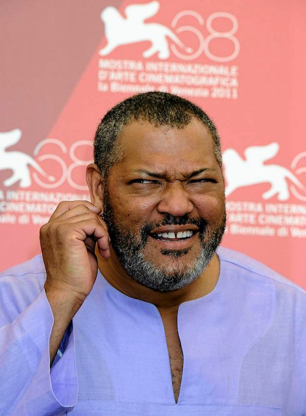 Actor Laurence Fishburne poses during the photo call for the movie Contagion at the 68th edition of the Venice Film Festival in Venice, Italy, Saturday, Sept. 3, 2011. (AP Photo/Jonathan Short)