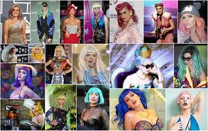 fryzury gwiazd, kolorowe włosy, trendy we fryzjerstwie, farbowanie, gwiazdy