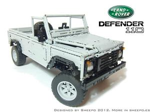 Niesamowity Land Rover Defender z klocków LEGO