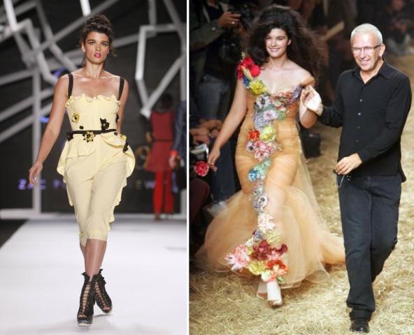 Crystal Renn Z Spoke by Zac Posen wiosna 2011 i pokaz Jean Paul Gaultier wiosna/lato 2006