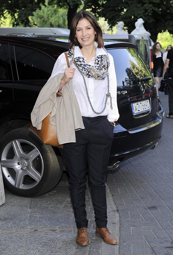 Grażyna Wolszczak na premierze w Teatrze Capitol na premierze sztuki 'Własność znana jako Judy Garland' (2011-05-23)
