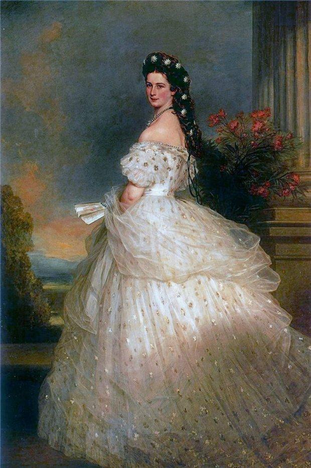 Cesarzowa Elżbieta, Franz Xaver Winterhalter (CC PD-Mark 1.0 via Wikimedia Commmons)