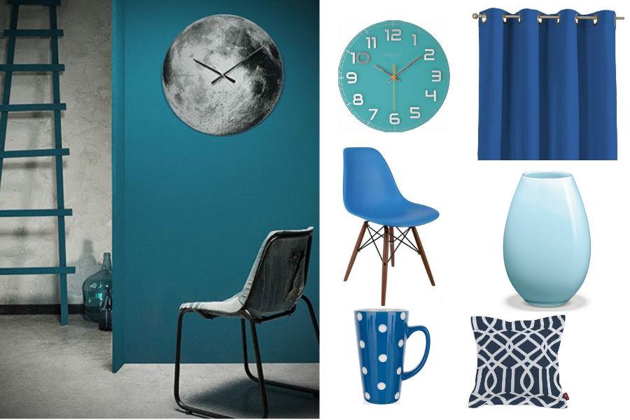 Dodatki do domu w kolorze niebieskim