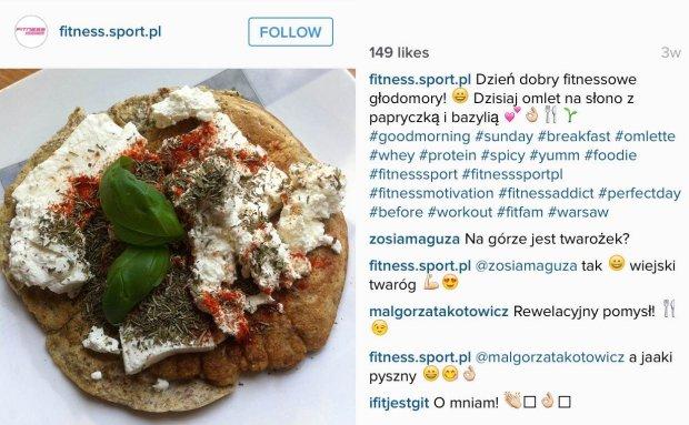 Omlette art, Monika Mozgała, Instagram fitness.sport.pl