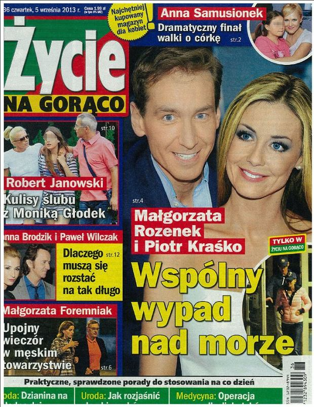 Małgorzata Rozenek, Piotr Kraśko