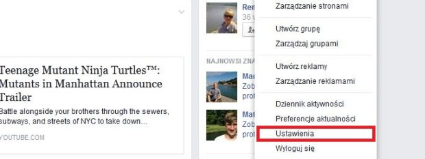 Facebook - Ustawienia