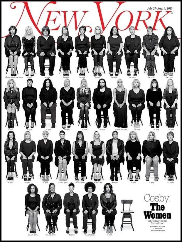 Ofiary Billa Cosby`ego. Okładka lipcowego wydania New York Magazine.
