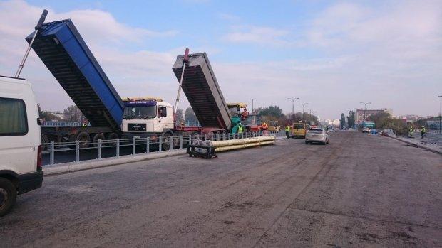 Ostatnie prace na moście Łazienkowskim
