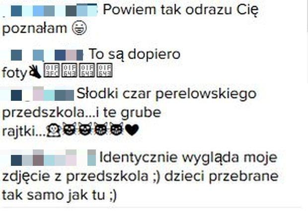 Komentarze pod zdjęciem Katarzyny Bujakiewicz
