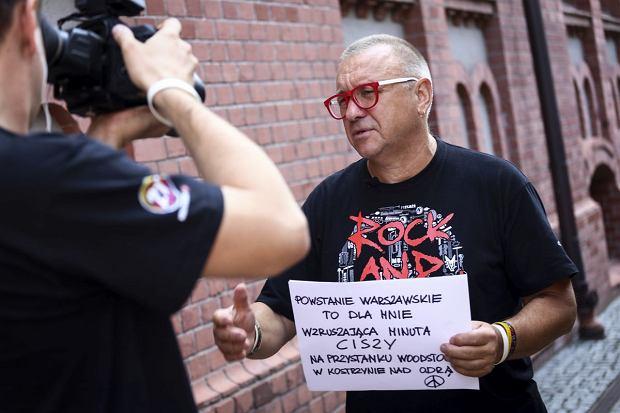 Jurek Owsiak podczas kręcenia kolejnego odcinka swojego wideobloga