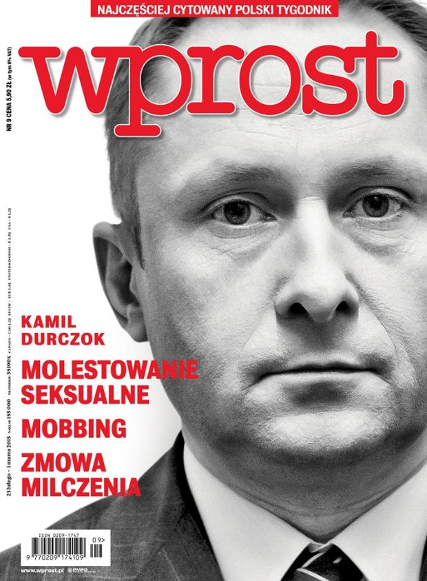 Kamil Durczok na okładce 'Wprost'