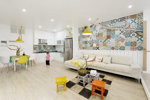 Mieszkanie pełne kolorowych płytek