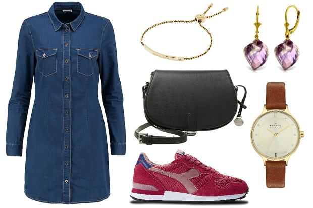 Sneakersy Diadora i sukienka jeansowa / mat. prasowe / mat. partnera
