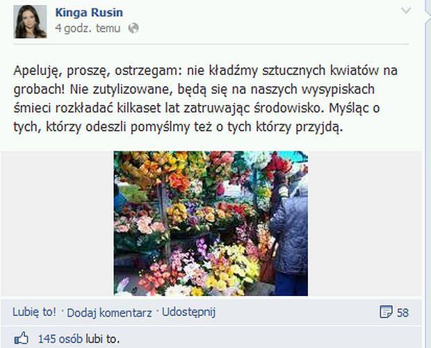 Kinga Rusin apeluje