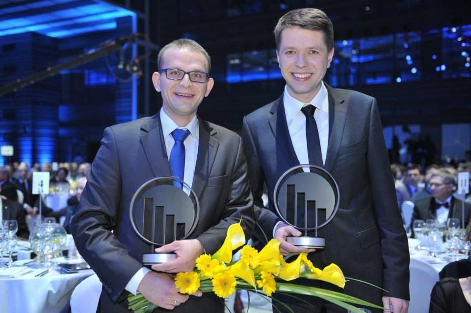 Twórcy internetowykantor.pl na gali EY (fot. K. Rainka)