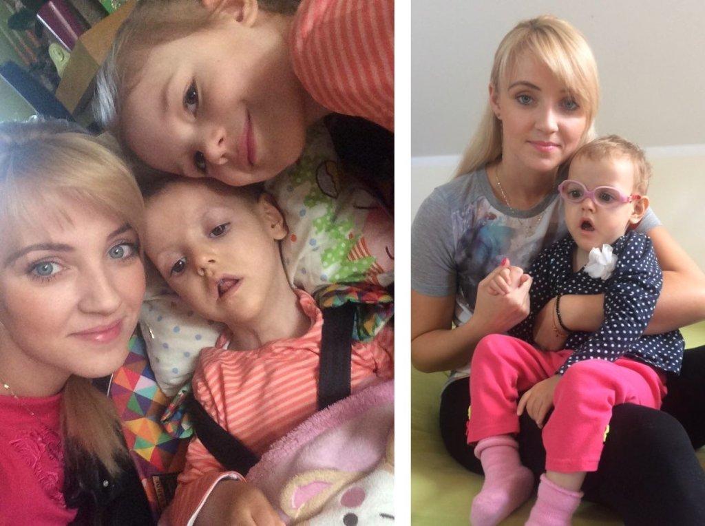 Po lewej: Paulina Janowicz z córkami Olą (w środku) i Julią; po prawej Paulina i Ola Janowicz (fot. archiwum prywatne)