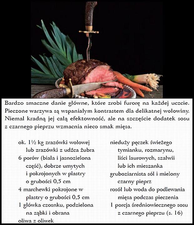 Pieczeń z żubra