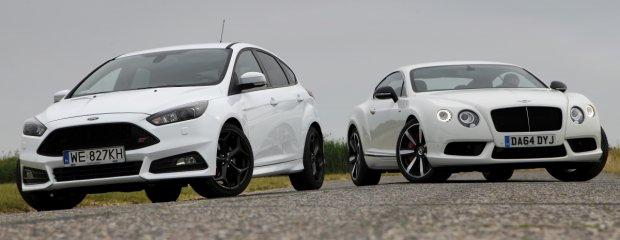 Ford Focus ST TDCi vs. Bentley Continental GT V8 S   Białe jest białe?