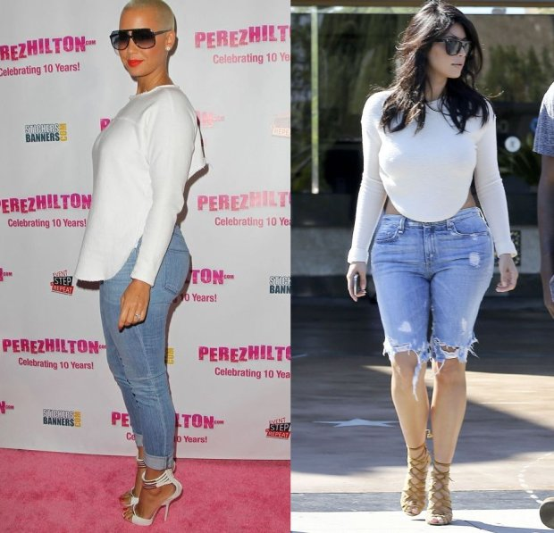 Amber Rose i Kim Kardashian