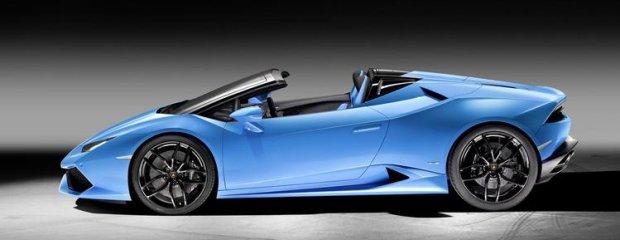 Salon Frankfurt 2015   Lamborghini Huracan Spyder   Byk bez dachu