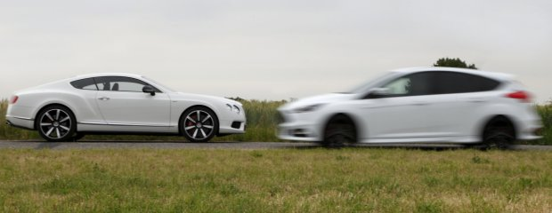 Ford Focus ST TDCi vs. Bentley Continental GT V8 S