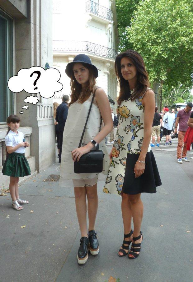 Rodzina w pełni oddana street fashion, Paryż, przed pokazem Ulyany Sergeenko