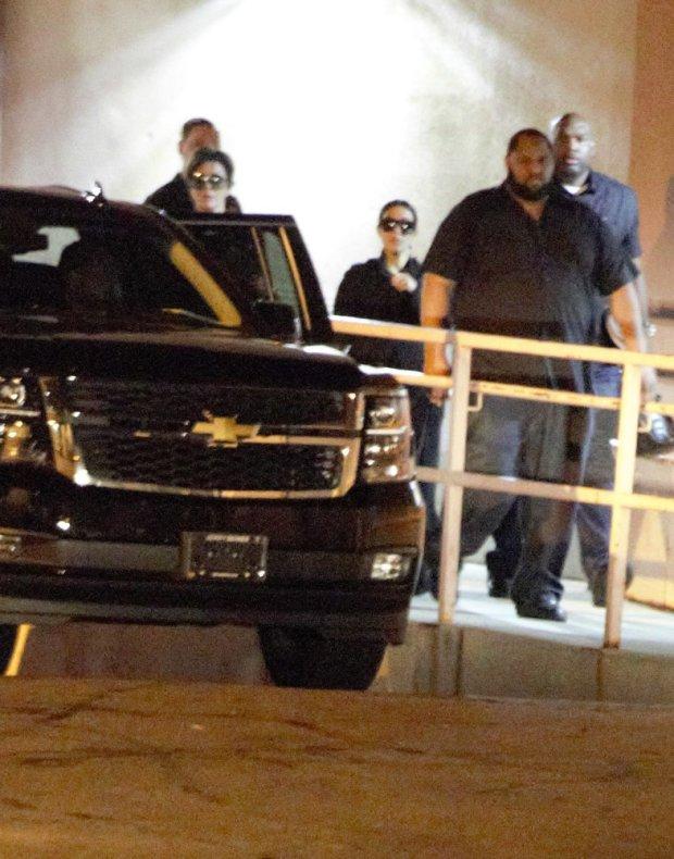 YKim Kardashian and Kris Jenner leave Hospital!  Pictured: Kim Kardashian  and Kris Jenner