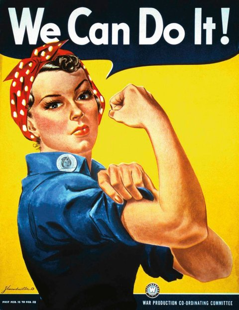 ROSIE THE RIVETER INSPIRATION DIES The factory worker who inspired the popular 'Rosie the Riveter' recruitment posters used during World War II has died. Geraldine Doyle, 86, passed away at a hospice in Lansing, Michigan on 26 December (10) after suffering complications from arthritis. She was just 17 years old when her photograph was taken while working in a metal factory, leaning over a piece of machinery with a red and white polka-dot bandana tied over her head. The picture was then said to have been used by artist J. Howard Miller as the inspiration for a 1942 poster depicting Rosie the Riveter, the brunette heroine flexing her right arm and declaring: 'We Can Do It!' The image was commissioned to boost morale for American women taking jobs in manufacturing plants to replace male workers serving in the military. The Rosie character became a feminist icon in the U.S. although Doyle was unaware she was Miller's muse until 1984 when she read an article which linked her to the poster. Doyle left her role at the factory shortly after the snap was taken - she lasted just two weeks on the job. (PAW/WNWC/LR) Rosie the Riveter Poster campaign for women in work during World War 2 Supplied by WENN.com (WENN does not claim any Copyright or License in the attached material. Any downloading fees charged by WENN are for WENN's services only, and do not, nor are they intended to, convey to the user any ownership of Copyright or License in the material. By publishing this material, the user expressly agrees to indemnify and to hold WENN harmless from any claims, demands, or causes of action arising out of or connected in any way with user's publication of the material.)  SLOWA KLUCZOWE:  ROSIE THE RIVETER INSPIRATION DIES The factory worker who inspired the popular 'Rosie the Riveter' recruitment posters used during World War II has died. Geraldine Doyle, 86, passed away at a hospice in Lansing, Michigan on 26 December (10) after suffering complications from arthritis. She was j