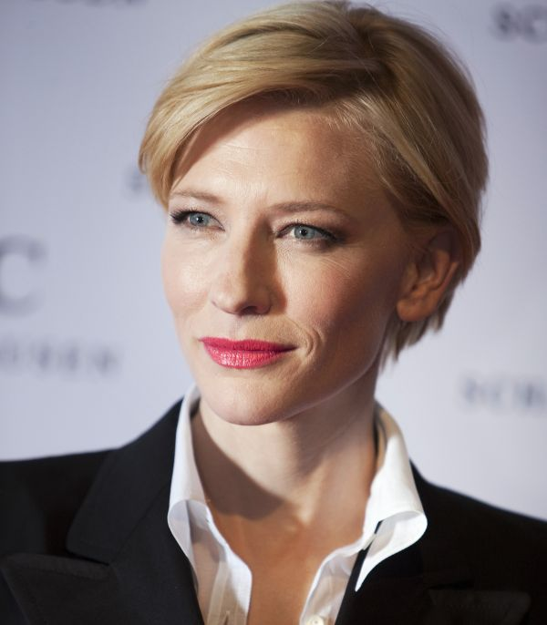 Actress Cate Blanchett  arrives for the Swiss watchmaker IWC party at the Salon International de la Haute Horlogerie (SIHH) at Palexpo in Geneva January 18, 2011.  The Salon International de la Haute Horlogerie, a private event reserved exclusively for professionals in fine watchmaking, has taken place each year in Geneva since 1991, and and will run this year from January 17 to 21. REUTERS/Valentin Flauraud (SWITZERLAND - Tags: ENTERTAINMENT SOCIETY HEADSHOT)