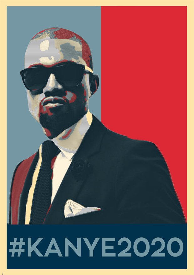 Prezydencki plakat Kanye West