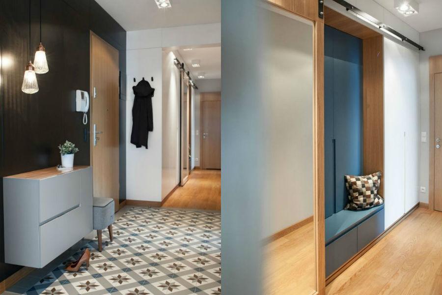 Garderoba w korytarzu