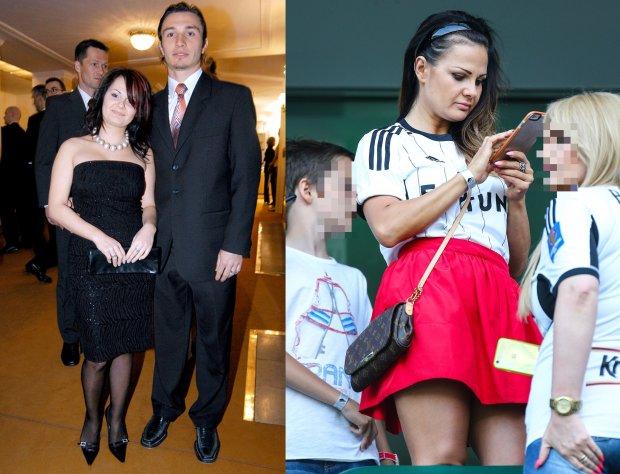 Kamila Saganowska z mężem Markiem Saganowskim w 2004 roku roku i w czerwcu 2015 roku