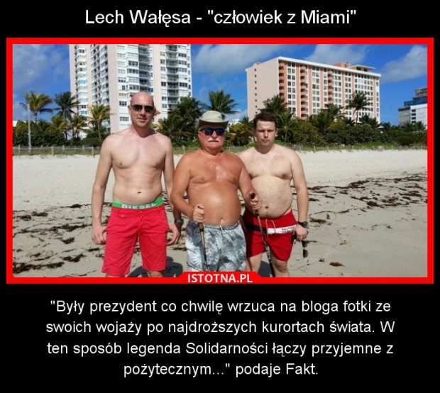 Internauci żartują z Lecha Wałęsy