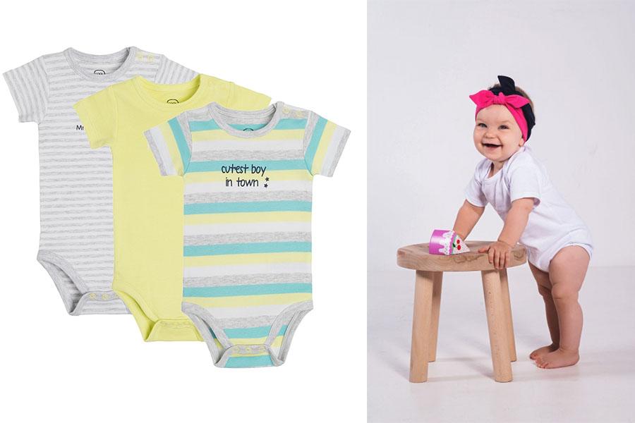 Praktyczne i ładne ubranka dla niemowląt