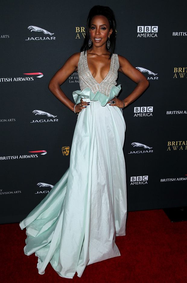 Kelly Rowland arrives at the 2013 BAFTA Los Angeles Britannia Awards at the Beverly Hilton Hotel on Saturday, Nov. 9, 2013 in Beverly Hills, Calif. (Photo by Matt Sayles/Invision/AP)