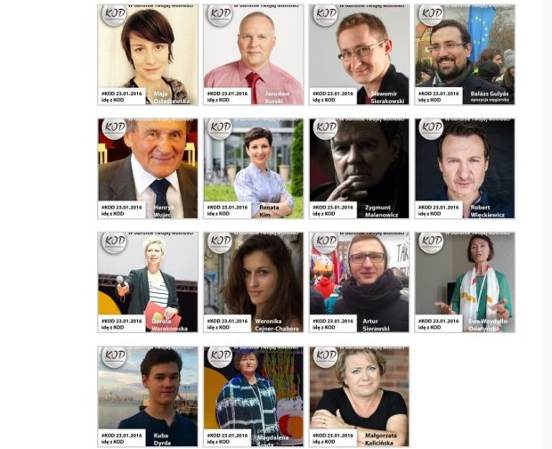 Osoby, które zadeklarowały, że wezmą udział w jutrzejszej manifestacji KOD w Warszawie