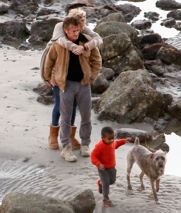 Charlize Theron i Sean Penn, syn Jackson