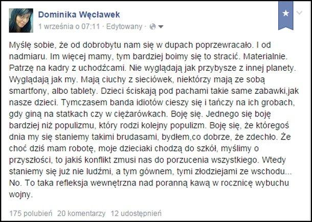 źródło: https://www.facebook.com/dominika.weclawek