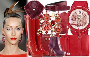 buty, czerwień, torebki, burgund, zima 2012, jesień 2012, biżuteria, zac posen, bordo