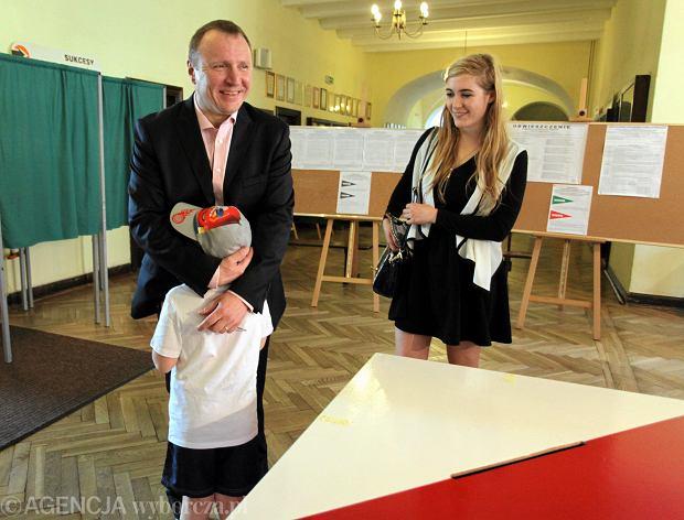 Jacek Kurski z dziećmi