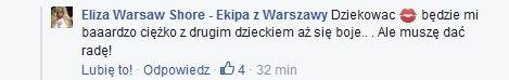 Komentarz na Facebook.com/ElizaWarsawShoreMTV