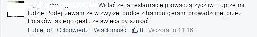 Obsługa w gruzińskiej restauracji Rusiko przy Al. Ujazdowskich ugościła za darmo staruszkę, która usiadła przy stoliku w ogródku.