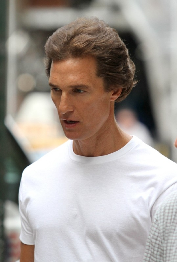 Matthew McConaughey and Martin Scorsece spotted on the set of
