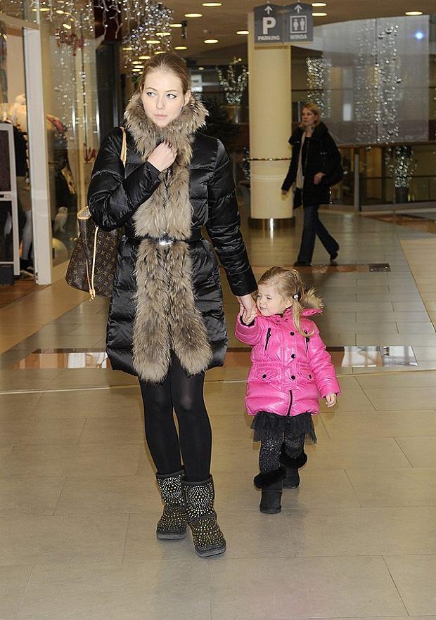 Agata Rubik z córką.