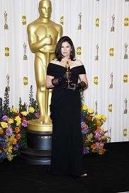 2011 Oscars: Costume designer Colleen Atwood posing with her Oscar in the press room at the 83rd Annual Academy Awards held at the Kodak Theatre in Los Angeles, California on 27.02.2011   Credit: Angel Dust/face to face face to face/REPORTER