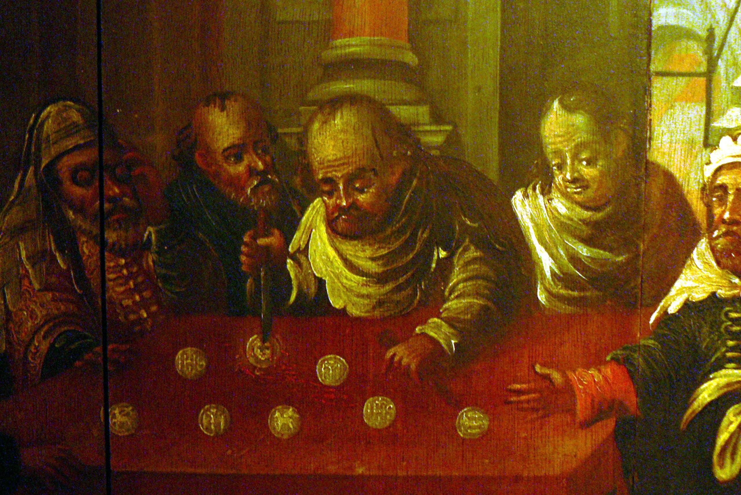 Obraz ukazujący profanację hostii przez Żydów w niemieckim Passau (fot. wikimedia.org / http://bit.ly/1RXdE4r)